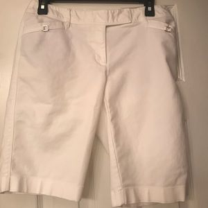 White House Black Market WHBM white shorts